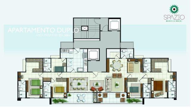 Planta Apartamento duplo