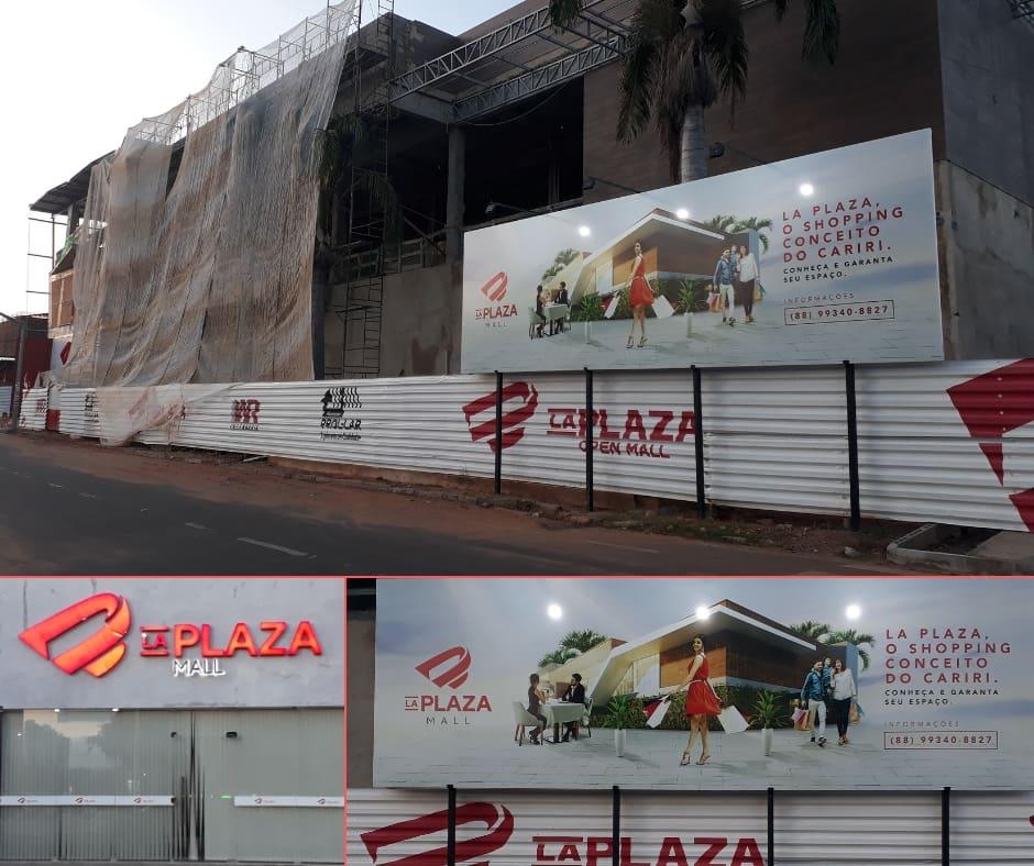 La Plaza Mall em Construção